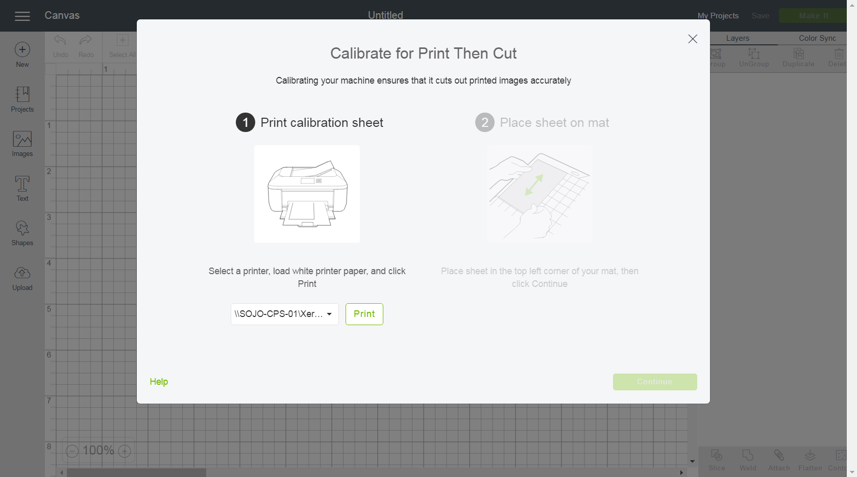 Calibrating Your Machine For Print Then Cut Help Center